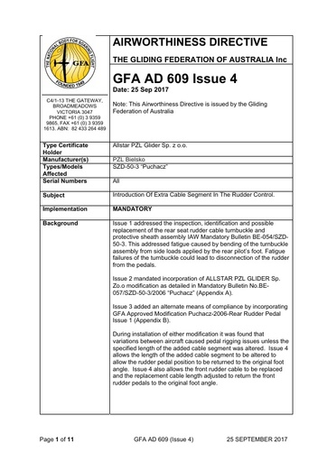 GFA AD 609 issue 4 2017 09 25