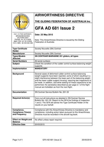 GFA AD 681 Issue 2