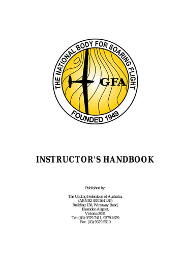 OPS 0006a Instructor's Handbook Part 1