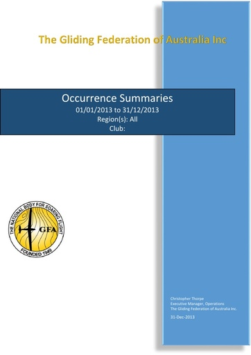 Occurrences (2013)