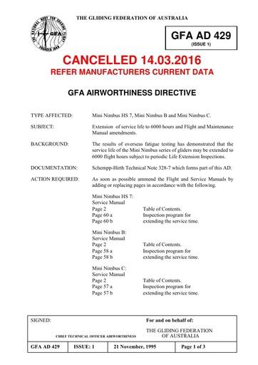 Gfa ad 429 Cancelled 2016.03.14