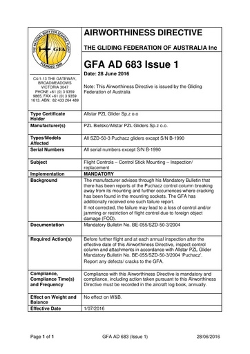 GFA AD 683 Issue 1