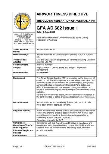 GFA AD 682 Issue 1