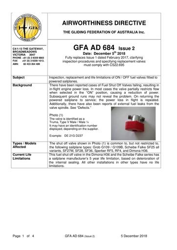 GFA AD 684 Issue 2 2018.12.05