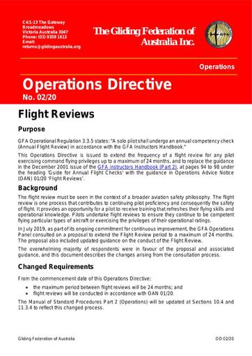 2020 - OD 02/20 Flight Reviews