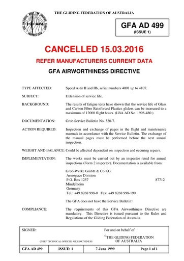 Gfa ad 499 Cancelled 15 03 2016